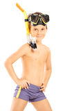 Little boy with a diving mask Royalty Free Stock Photos