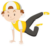Little boy doing breakdance Royalty Free Stock Images