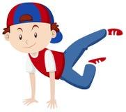 Little boy doing breakdance Royalty Free Stock Photo