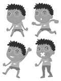 Little boy doing different acts. Illustration Royalty Free Stock Images