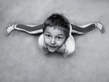 Little boy doing gymnastics Royalty Free Stock Image