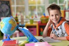 Little boy doing homework Royalty Free Stock Photo