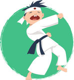 Little boy doing karate Royalty Free Stock Photography