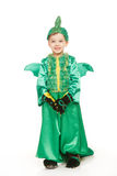 Little boy in dragon costume Stock Photos