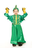 Little boy in dragon costume Royalty Free Stock Photos