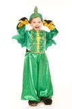 Little boy in dragon costume Royalty Free Stock Photo