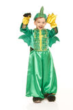 Little boy in dragon costume Royalty Free Stock Image