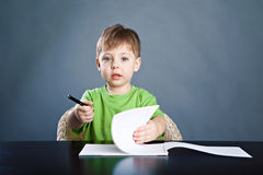 Free Little Boy Draw Stock Image - 29601661