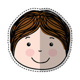 Little boy drawing isolated icon Stock Photography