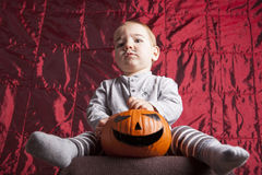 Little boy dress up for halloween party Stock Image