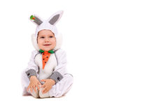 Little boy dressed as bunny Stock Photography