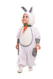 Little boy dressed as bunny. Isolated Stock Images