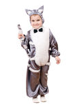 Little boy dressed as cat Stock Photo