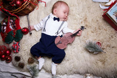 Little boy dressed as a gentleman Royalty Free Stock Image