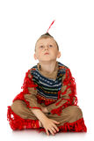 Little boy dressed as an Indian Royalty Free Stock Image