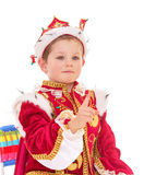 Little boy dressed as a king. Royalty Free Stock Photos