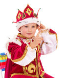 Little boy dressed as a king. Stock Photos