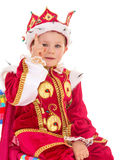 Little boy dressed as a king. Stock Photo