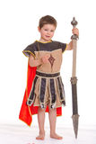 Little boy dressed as a knight. Stock Image