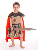 Little boy dressed as a knight. Royalty Free Stock Images
