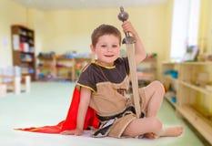 Little boy dressed Royalty Free Stock Photos