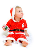 Little boy dressed as Santa Claus Royalty Free Stock Images
