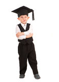 Little boy dressed Bachelor cap Stock Photo