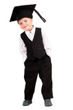 Little boy dressed Bachelor cap Royalty Free Stock Image