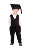Little boy dressed Bachelor cap Royalty Free Stock Images