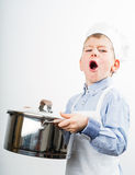 Little boy dressed like a chef Royalty Free Stock Photo
