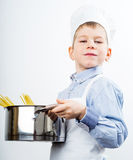 Little boy dressed like a chef Royalty Free Stock Photography