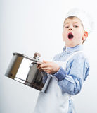 Little boy dressed like a chef Stock Photography