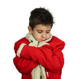 Little boy dressed with Santa suit Royalty Free Stock Image
