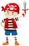 Little boy dressed up as pirate crew. Illustration Stock Photography