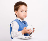 Little boy drinking Stock Photography