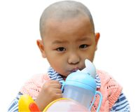 A little boy drinking water Royalty Free Stock Photo