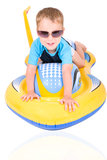 Little boy driving jetski Royalty Free Stock Photography