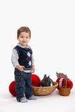 Little boy with Easter decoration Royalty Free Stock Photos