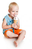 Little boy eating ice cream Royalty Free Stock Photo
