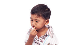 Free Little Boy Eating Snack Food Stock Photos - 65340013