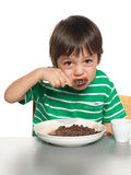 Little boy has his breakfast Royalty Free Stock Photography