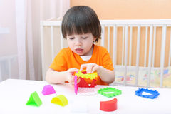 Little boy with educational toy Royalty Free Stock Photography