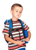 Little boy elementary student Stock Image