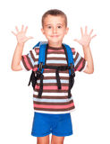 Little boy elementary student Stock Photos