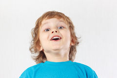 Little boy with the emotion of surprise Royalty Free Stock Image