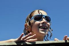 Little Boy emozionante Fotografie Stock Libere da Diritti