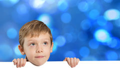 Little boy with empty space Royalty Free Stock Photo