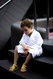 Little Boy en el balneario Imágenes de archivo libres de regalías