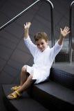 Little Boy en el balneario Imagen de archivo libre de regalías