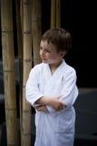 Little Boy en el balneario Fotos de archivo